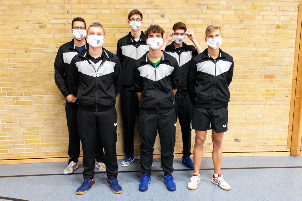 1. Herren Mannschaft TTG207 2020 mit Maske
